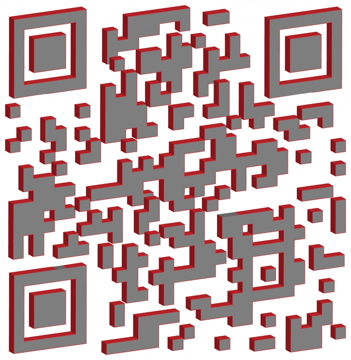 - This 3D QR has been tilted to expose its edges. -  - Art and the Zen of QR Codes - QaRt - making art from QR codes. - Tony Karp, design, art, photography, techno-impressionist, techno-impressionism, aerial photography , drone , drones , dji , mavic pro , video , 3D printing - Books -