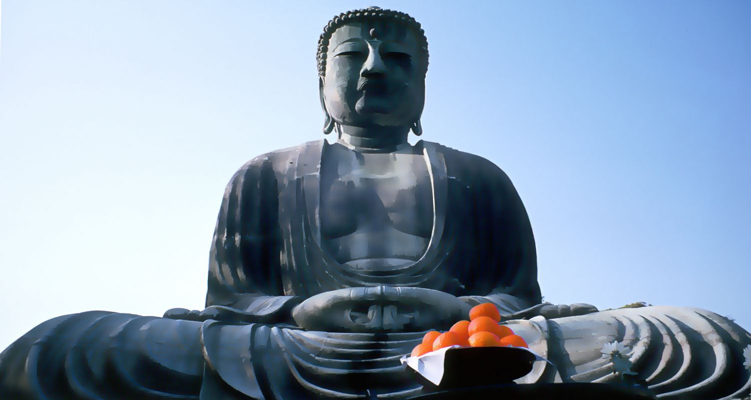 - Daibutsu Buddha at Kamakura - 19mm lens - 1965 - Kodachrome - Tony Karp, design, art, photography, techno-impressionist, techno-impressionism, aerial photography , drone , drones , dji , mavic pro , video , 3D printing - Books -