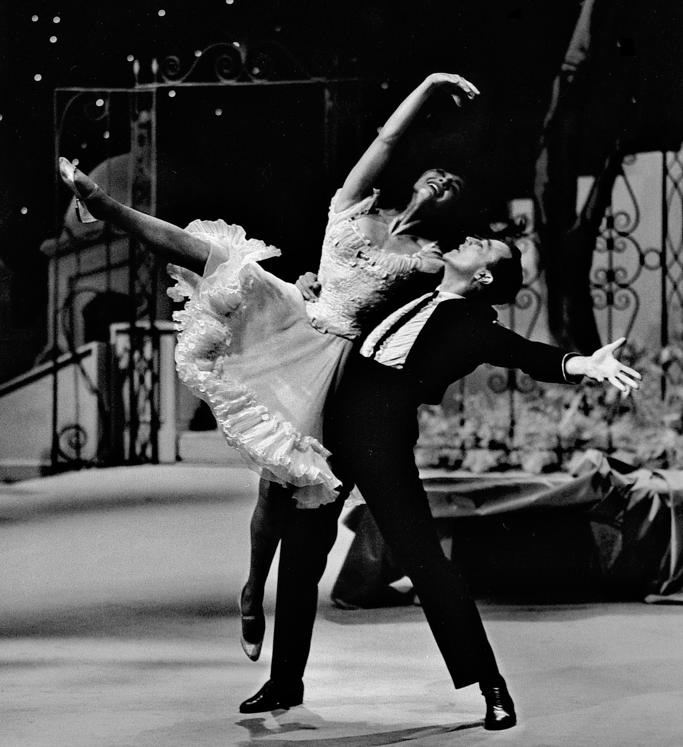 - Gene Kelly dancing with Carol Lawrence - Gene Kelly, Donald O'Connor, and Carol Lawrence -photography for NBC TV - - art  - photography - by Tony Karp