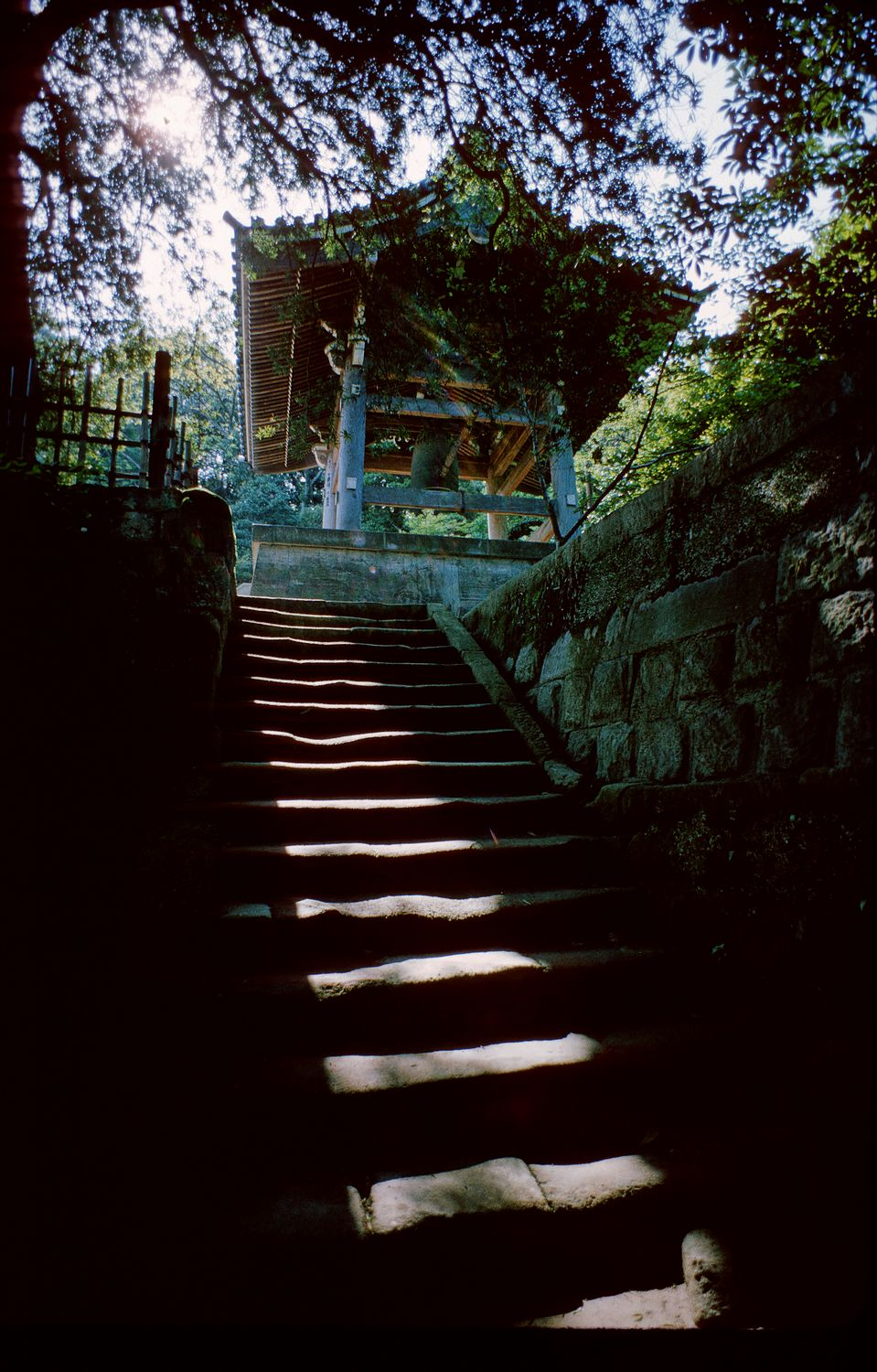 In Kamakura Japan - stairs leading up to a bell tower - canon SLR with 19mm lens, Kodachrome - Going over to the dark side - Tony Karp, design, art, photography, techno-impressionist, techno-impressionism, aerial photography , drone , drones , dji , mavic pro , video , 3D printing - Books -