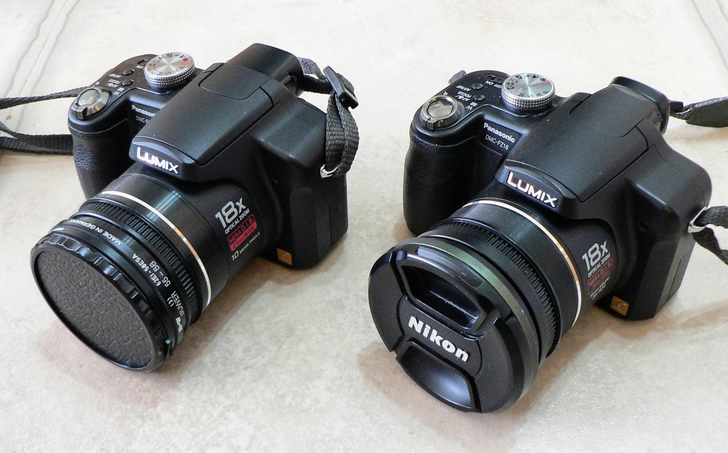 Mr. Inside and Mr. Outside, my Panasonic DMC-FZ28 and DMC-FZ18 - Mister Inside and Mister Outside - My DMC-FZ28 and DMC-FZ18 - Picture taken with my DMC-FZ5 - - art  - photography - by Tony Karp