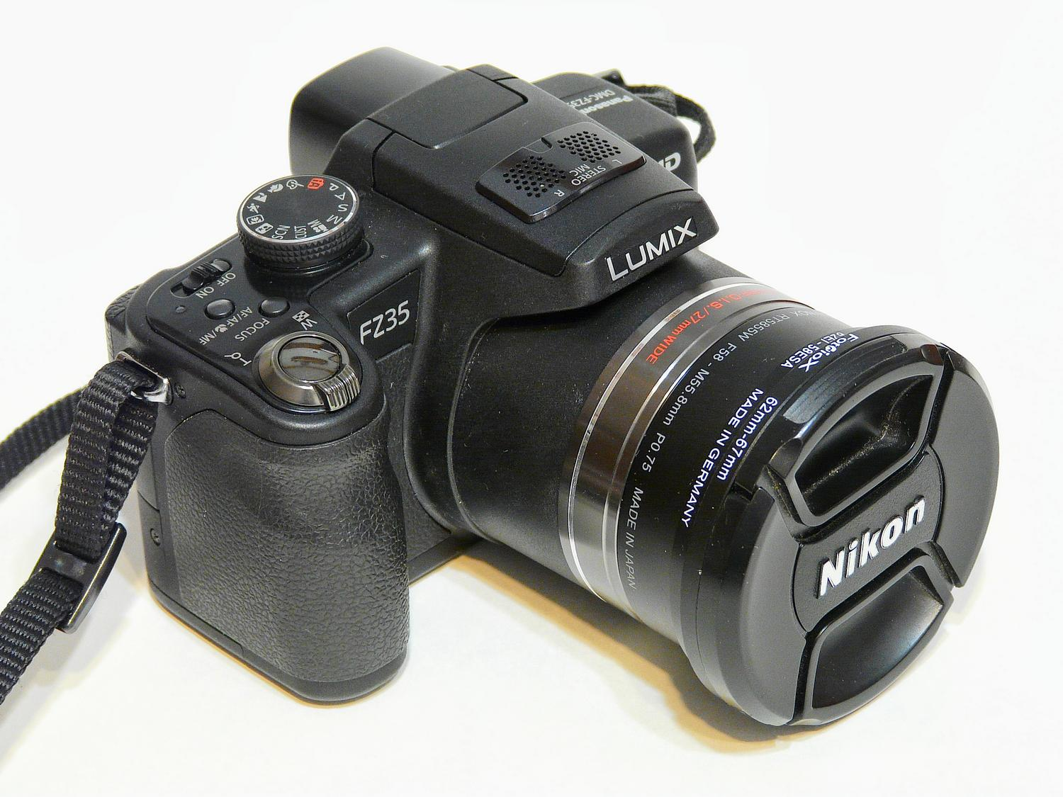 Panasonic DMC-FZ35 - All dressed up with a snazzy Nikon lens cap. - Panasonic DMC-FZ35 - Tony Karp, design, art, photography, techno-impressionist, techno-impressionism, aerial photography , drone , drones , dji , mavic pro , video , 3D printing - Books -