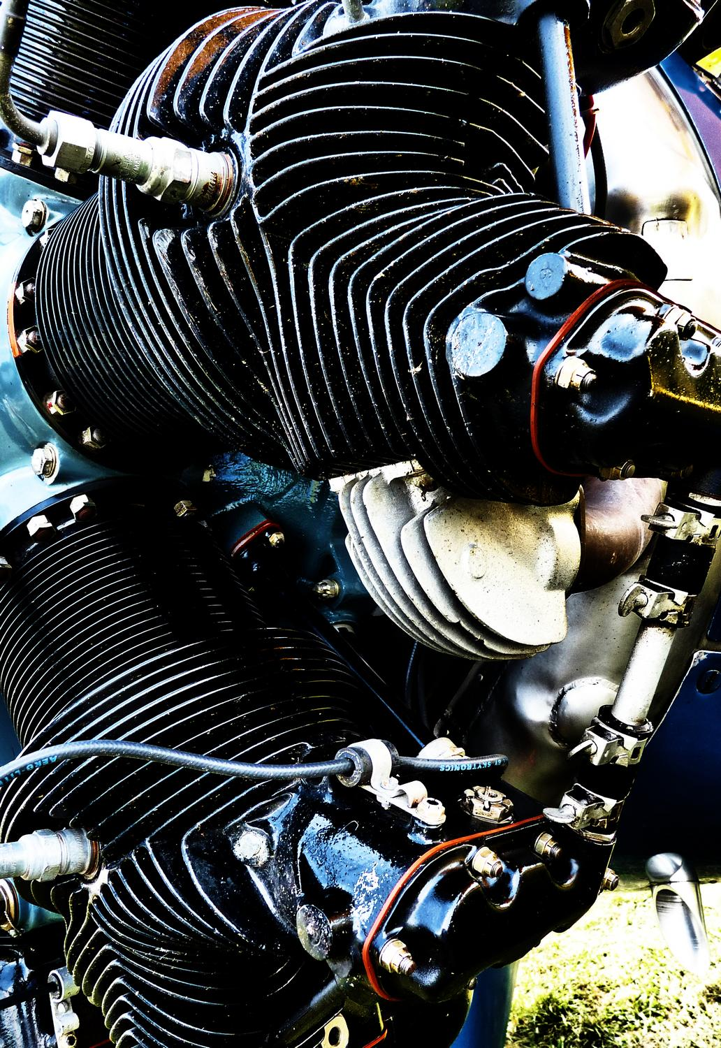 engine in an old airplane - More vintage engine porn. - Panasonic DMC-FZ28 -- At the Flying Circus - Bealton Virginia - Tony Karp, design, art, photography, techno-impressionist, techno-impressionism, aerial photography , drone , drones , dji , mavic pro , video , 3D printing - Books -