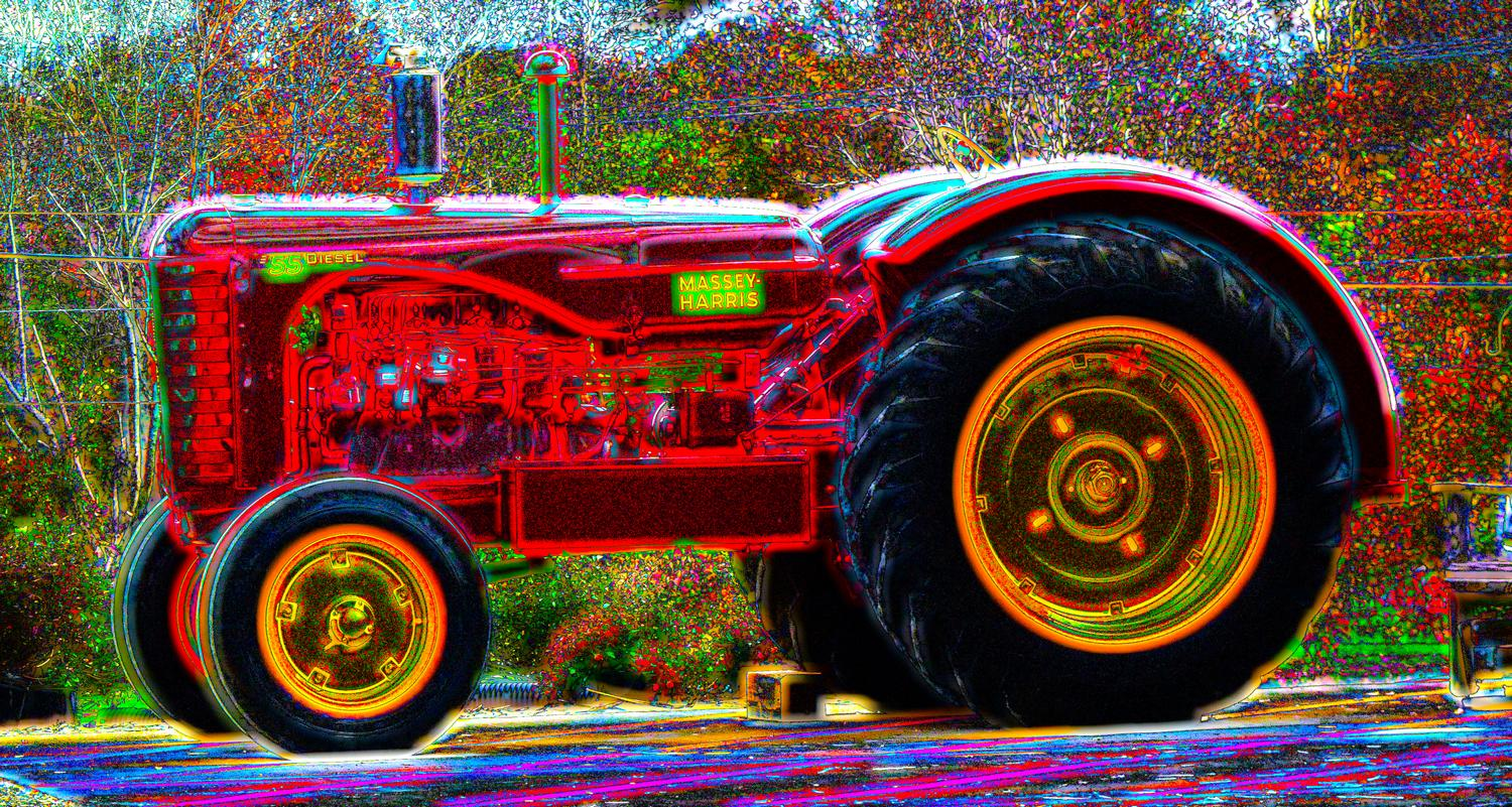 Warrenton, Virginia -  Panasonic DMC-FZ35 - The magical tractor at Buckland Farms. Few people notice that one of its wheels is missing. - Tony Karp, design, art, photography, techno-impressionist, techno-impressionism, aerial photography , drone , drones , dji , mavic pro , video , 3D printing - Books -