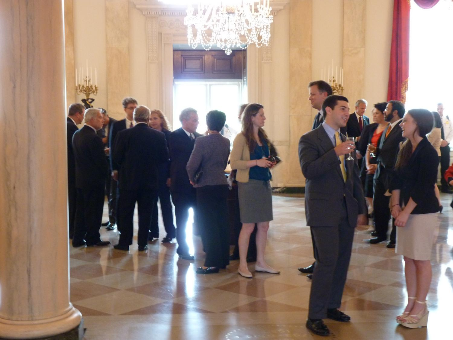 - Some of the attendees at the reception. - Panasonic DMC-FZ35 - White House = President Barak Obama - Tony Karp, design, art, photography, techno-impressionist, techno-impressionism, aerial photography , drone , drones , dji , mavic pro , video , 3D printing - Books -